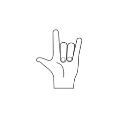 hand sign rock icon. Hands sign elements concept and web apps. Thin line  icon for website design and development, app development. Premium icon