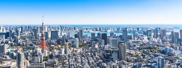 Photo sur Aluminium Tokyo 東京 都市風景 ワイド