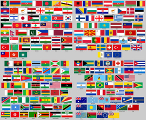 set of flags of World