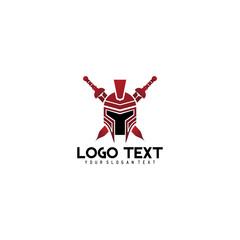 spartan titan logo for security symbol for power team work bold company or baseball team defense and war theme