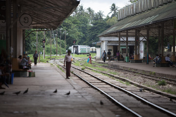train station in rangoon Myanmar
