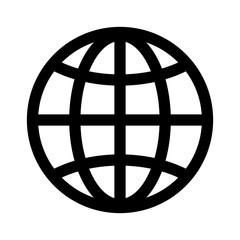 globe icon, website icon vector
