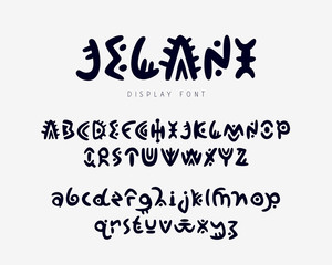 English alphabet. Authentic font