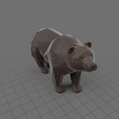 Stylized brown bear standing