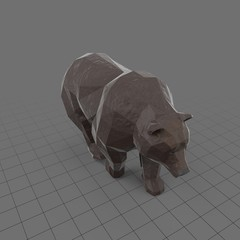 Stylized brown bear walking