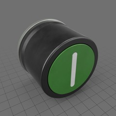 Green button with white line