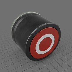 Red button with white circle
