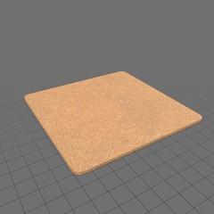 Single square cork coaster