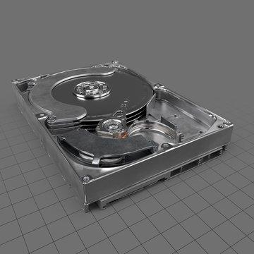 Open computer hard drive