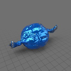 Hard candy in blue wrapper