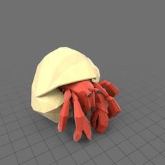 Stylized hermit crab