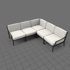 Metal frame patio sectional