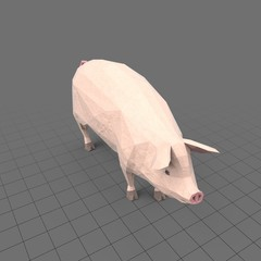 Stylized pig standing