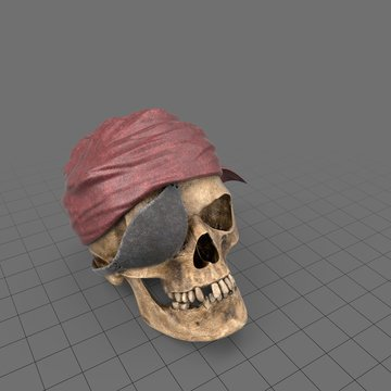 Halloween pirate skull