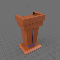 Modern wood podium with microphone