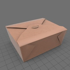 Folded takeout container
