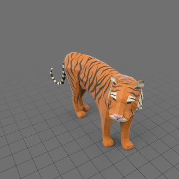 Stylized tiger standing
