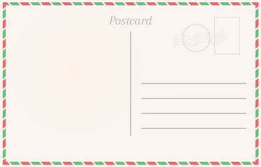 Realistic postcard. Postal card illustration for design