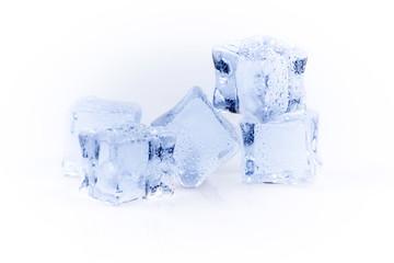 Many ice cubes