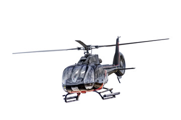Photo sur Plexiglas Hélicoptère Front view helicopter isolated