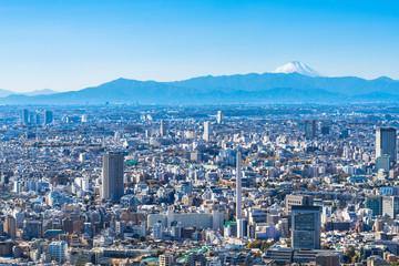 東京都心から眺める富士山
