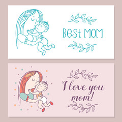 The best mom. Vector illustration