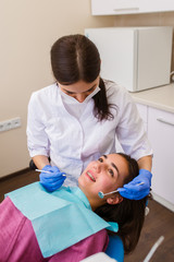 Dental treatment in the dental clinic.