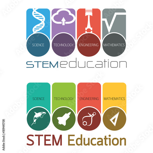 """""""STEM Education Logo"""" Stock Image And Royalty-free Vector"""