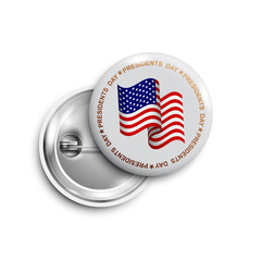Happy Presidents day button,badge,banner isolated
