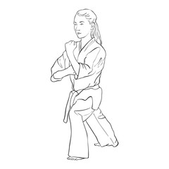 young karate girl