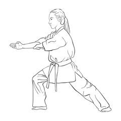 young karate girl