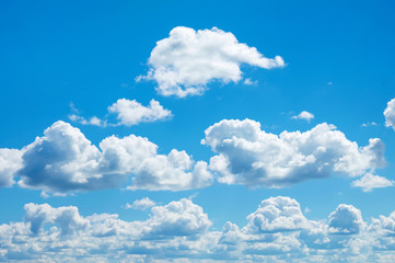Beautiful heavenly landscape with clouds and the blue sky