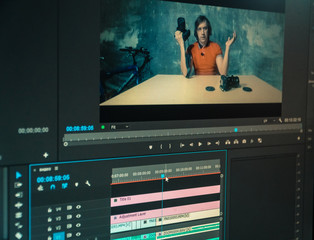 Video editing. Video editing for a video blog