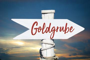Fototapete - Schild 317 - Goldgrube
