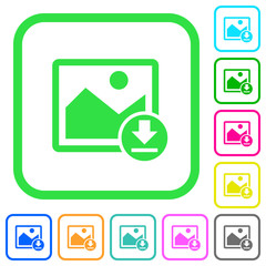 Download image vivid colored flat icons