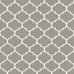 Grey morrocan, hamptons background. Vector pattern.