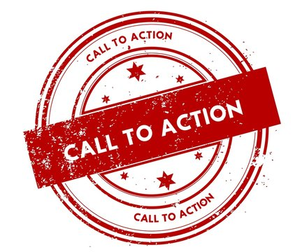 CALL TO ACTION distressed red stamp.