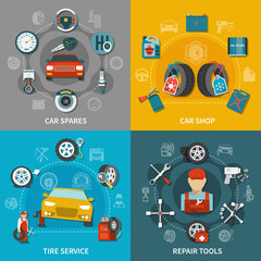 Tire Service 2x2 Set