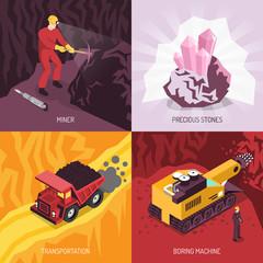 Gems Precious Stones Mining Concept