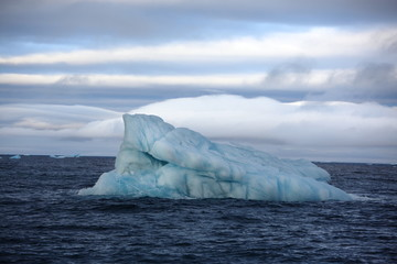 Melting icebergs in Arctic ocean