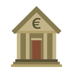 flat icon on stylish background business bank building