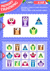 Memory game children shapes 1