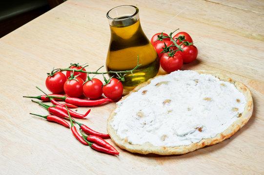 Lebanese food of thyme and manaqish