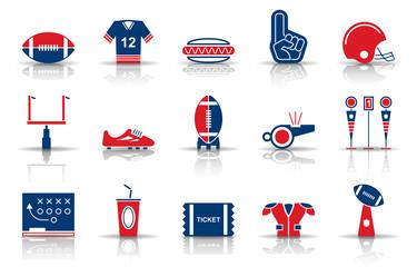 American Football - Iconset (Blau/ Rot)