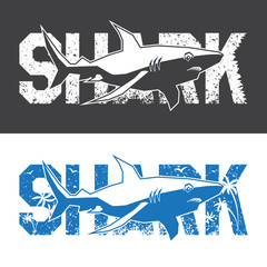 shark monochrome emblem