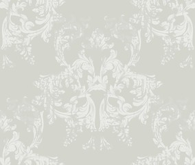 Vintage Damask pattern Vector ornament decor. Baroque grunge background textures. Royal victorian trendy designs