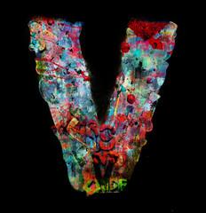 wooden letters V