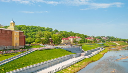 Embankment of the Dnieper River in the ancient Russian city of Smolensk