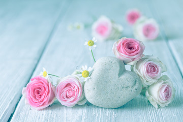 Romantic vintage flower background