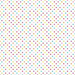 Seamless Pattern Dots Colored